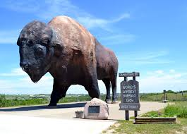Bison monument Dakota