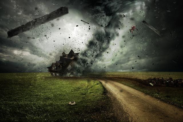 Tornados y huracanes en ee.uu